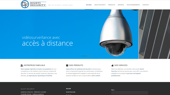 Giusty security - Page d'accueil