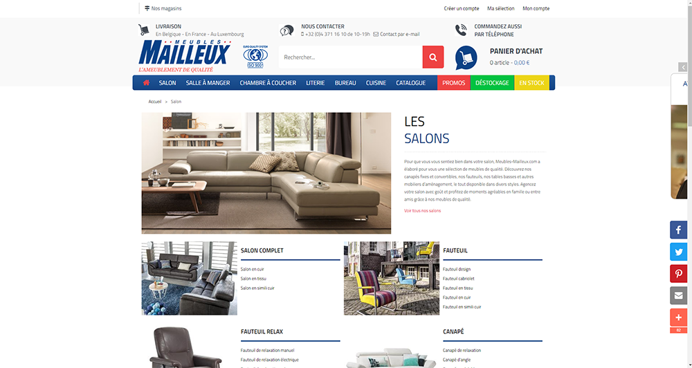 Meubles Mailleux - Page Salons