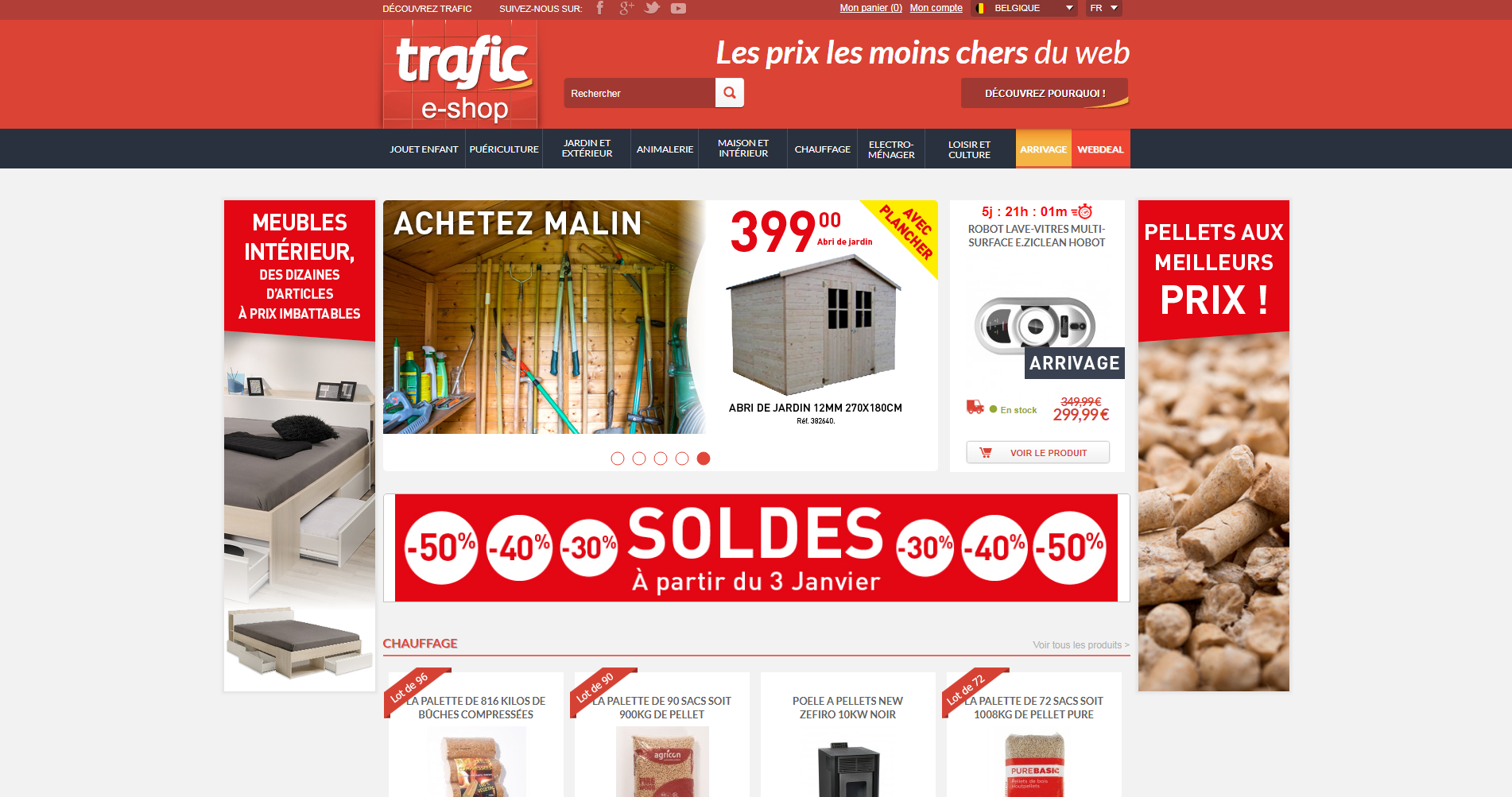 Trafic - Page d'accueil