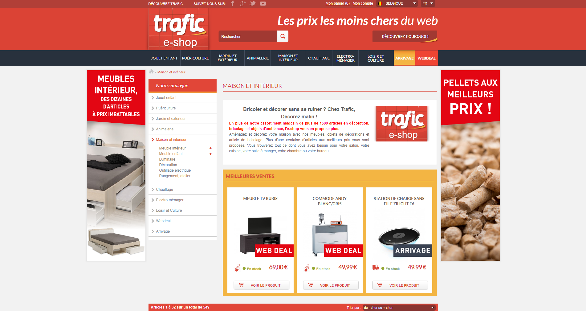 Trafic - Page interne