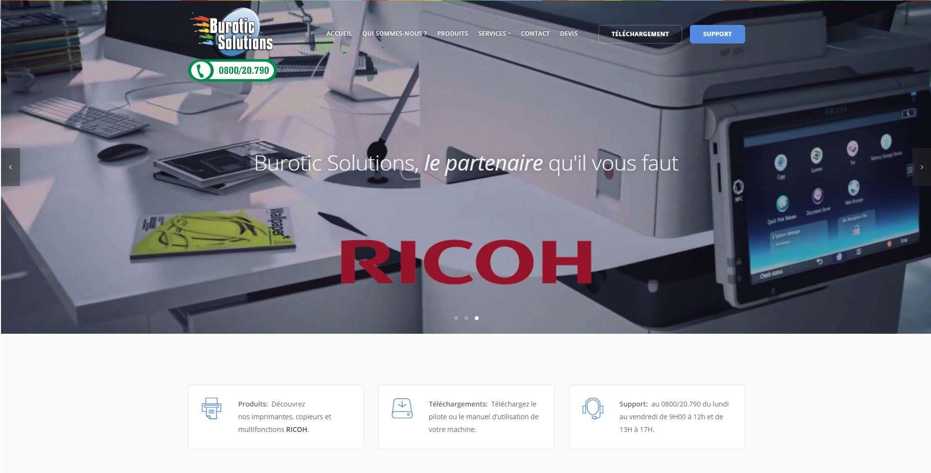 Burotic Solutions - Page d'accueil