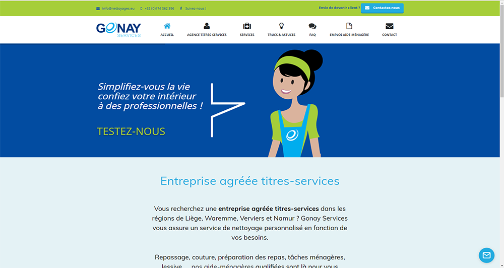 Gonay - Accueil