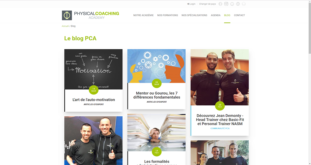 Physical Coaching Academy - Blog