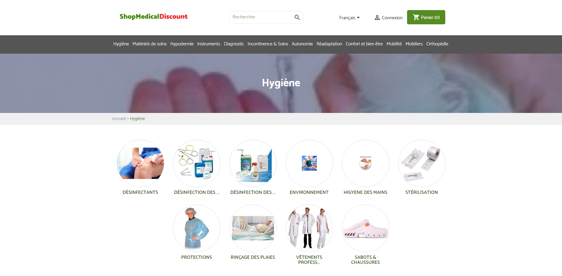 Vs Medical - Page hygiène