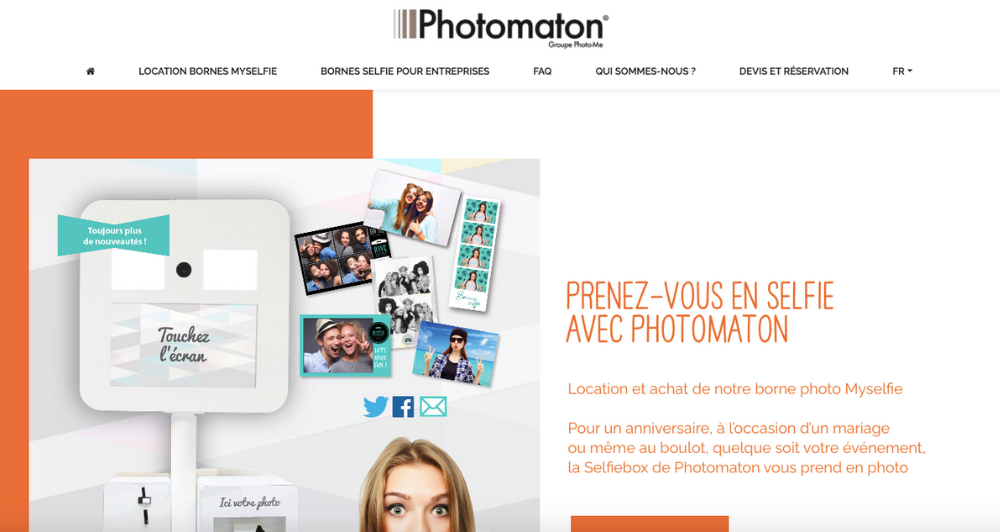 Photomaton - Page d'accueil